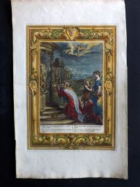 Picart Temple des Muses 1733 HC Print. Oeneus King of Calydon, neglected Diana